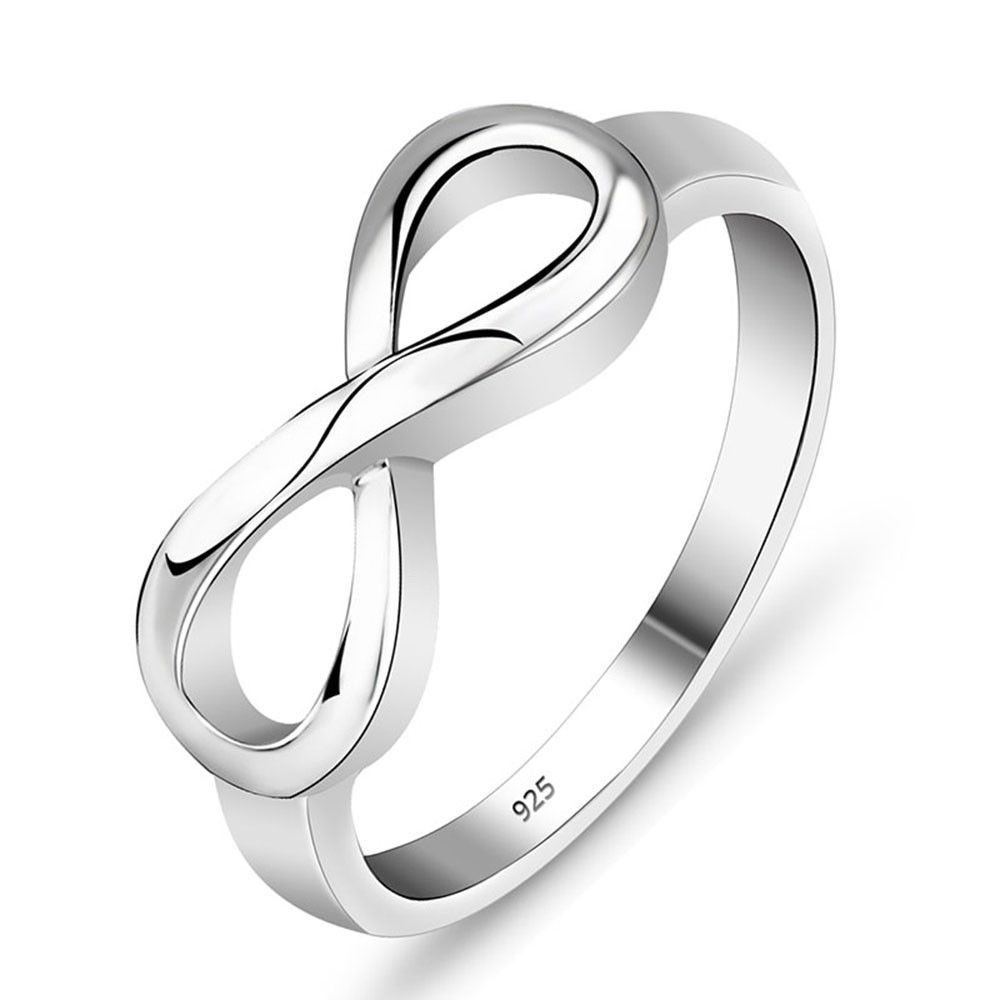 New Personalized Infinity Ring 925 Sterling Silver Custom Name Wedding Gift Love Forever Ring for Women Fine Jewelry sterling 925 silver color ring for women wedding jewelry natural garnet stone statement ring classic rose gold ring jewelry gift