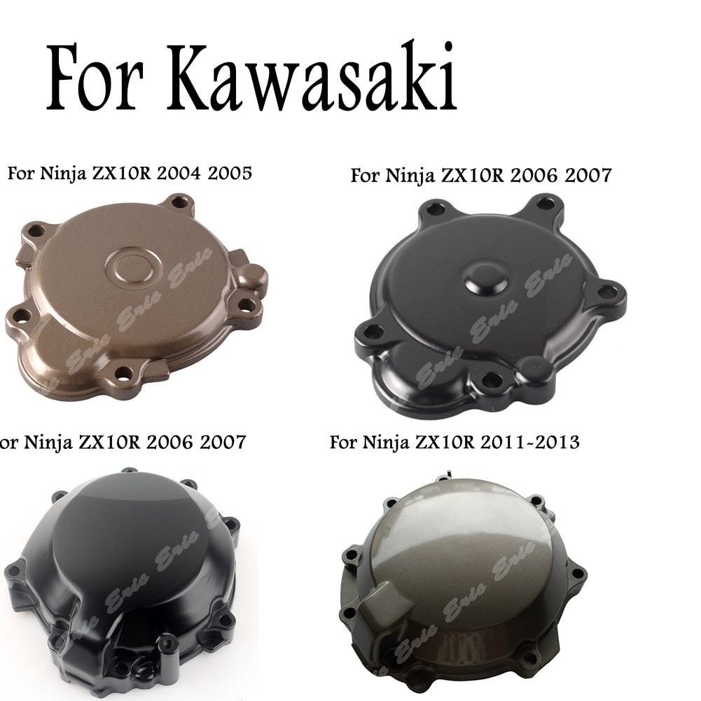 Cubierta de motor de motocicleta, estator de cárter compatible con Kawasaki Ninja ZX10R 2004 2005 2006 2007 2008 2009 2010 2011 2012 2013