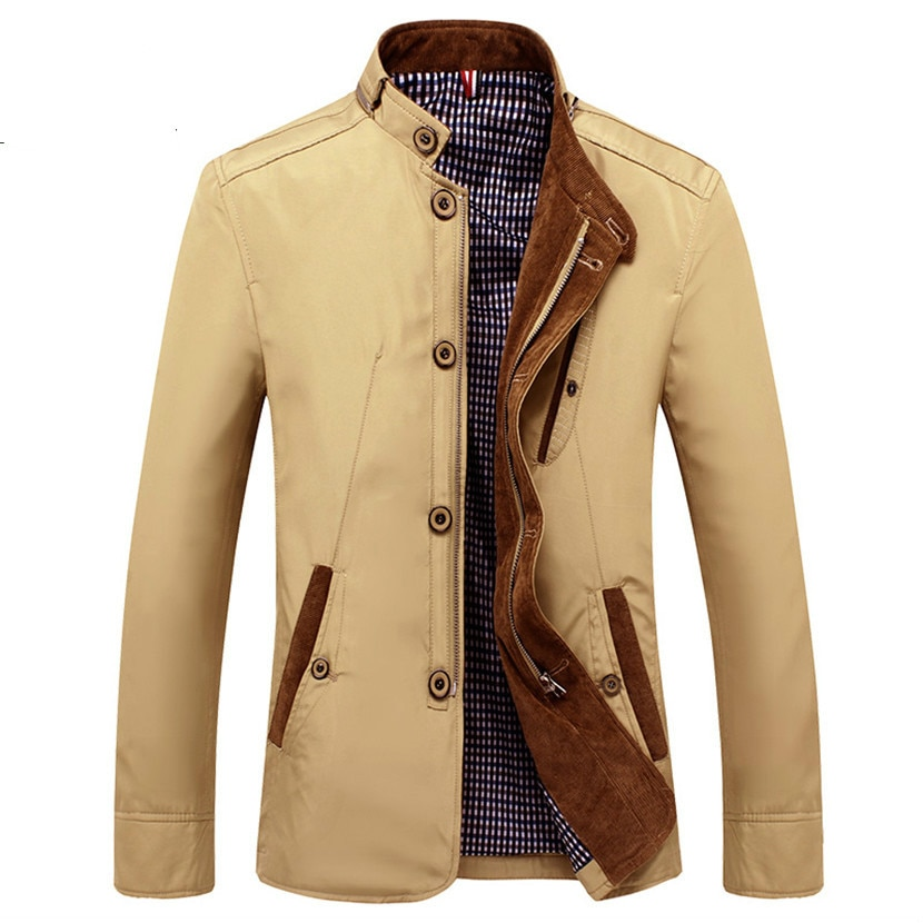 Novo 2020 primavera outono fino militar windbreaker masculino botão de suporte fino casual jaqueta ajuste plus size 4xl
