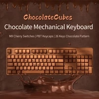 ajazz gaming keyboard with redgreen cherry mechanical switch 104 keys chocolate mechanical keyboard for notebook pc desktop