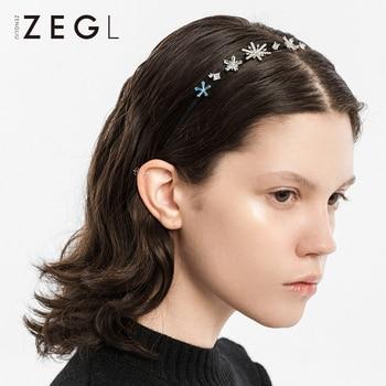 ZEGL Designer Model Snowflake Headband Female Versatile Outing Korean Style Online Red Hair Band Sweet Temperament Hair