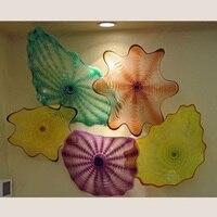 Fancy Led Decorative Wall Lights India Modern abstract hand blown glass flower wall art