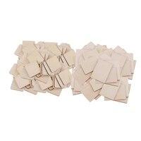 100x pieces en bois vierges pour artisanat  pyrogravure  bricolage Plaque en bois signe deco maison