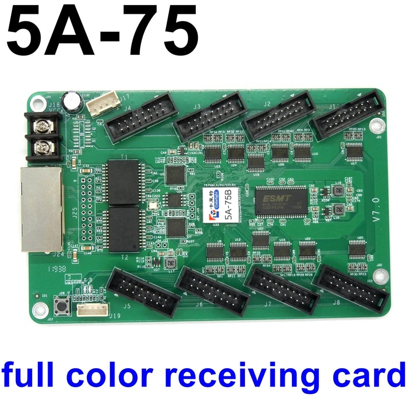 5A-75 full color receiving card RGB led controller HUB75 included high refresh rate LED control card drive system 5A-75B