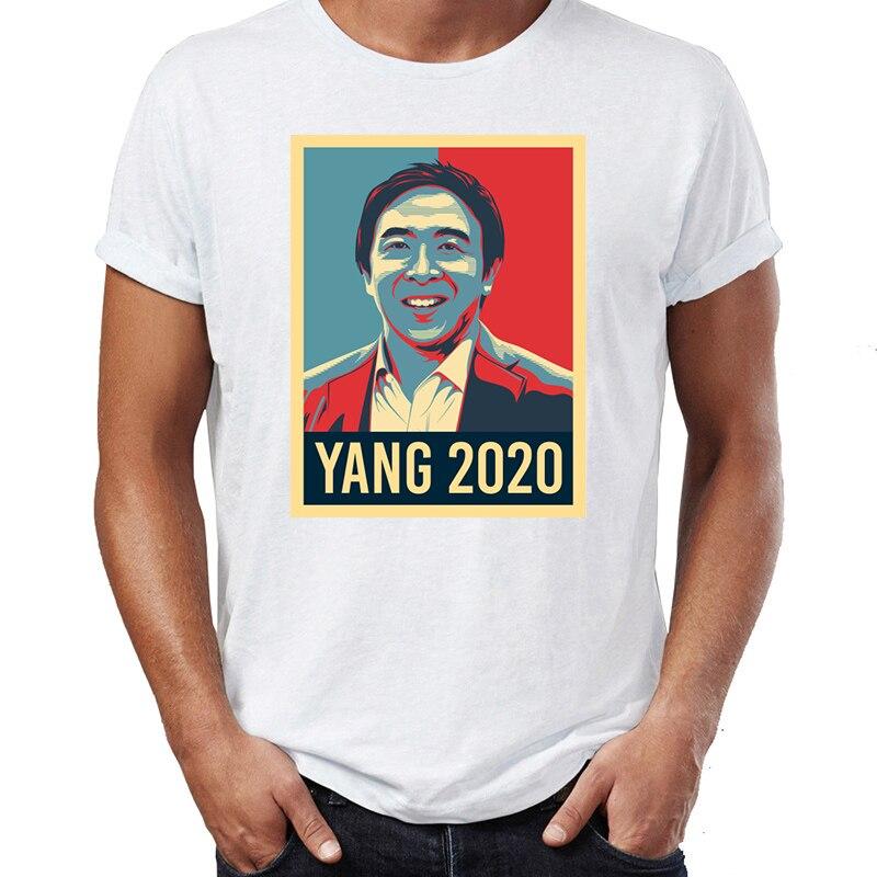 Camiseta masculina andrew yang hope yang 2020 incrível arte arte t