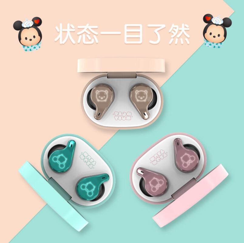 Wireless Bluetooth Headset Girls Cute Romantic Makeup Box in-ear Headphone Sports Running Music Call Earplugs Earphone enlarge
