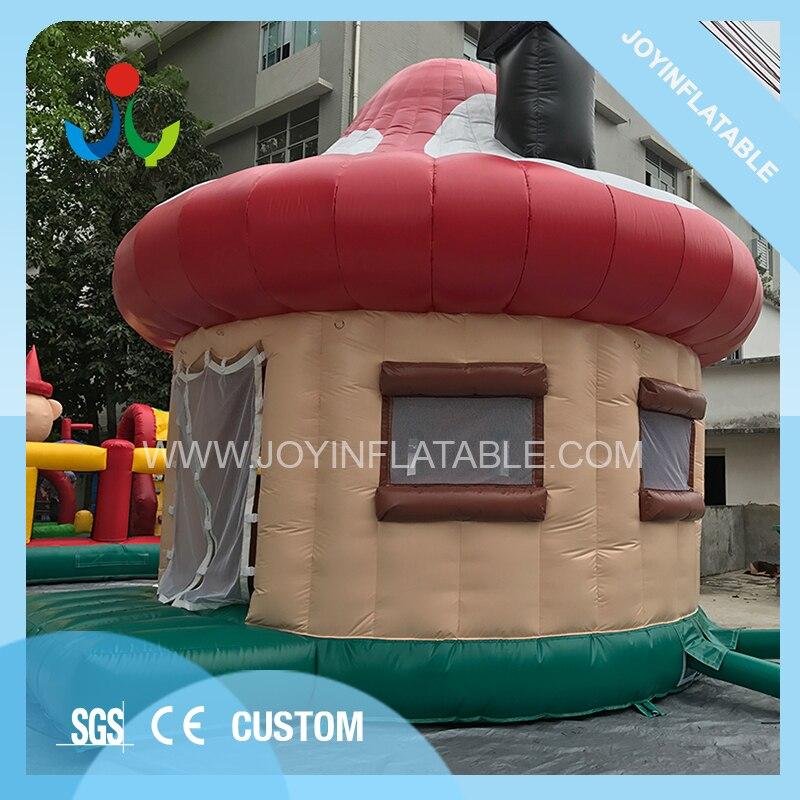 في الهواء الطلق الأسرة الفطر شكل القباني خيمة حفلات قابلة للنفخ للأطفال القفز