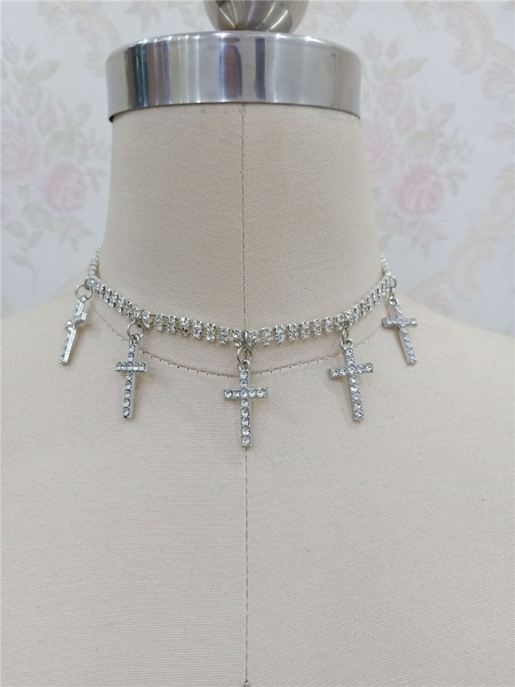 Панк письмо кулон короткое ожерелье унисекс ожерелье Харадзюку хип хоп модное ожерелье аксессуары уличная одежда CL212