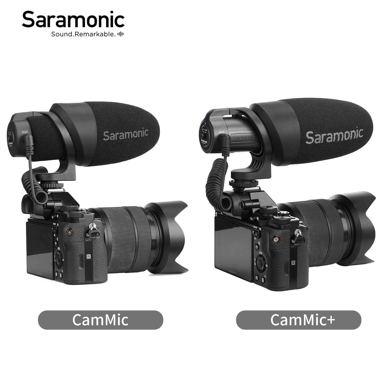Микрофон Saramonic CamMic, легкий конденсаторный микрофон для цифровой зеркальной камеры и видеокамеры