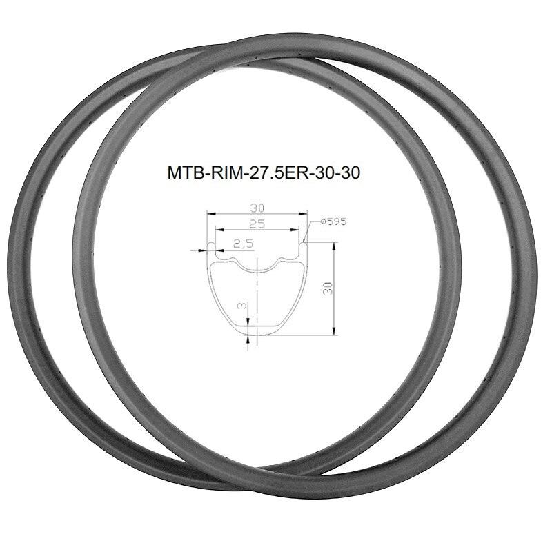 Графеновый углеродный mtb велосипедный ободки дисков 27.5er XC 360g 30x30 мм бескамерный 650B углеродный обод горный велосипед обод ERD 541 мм