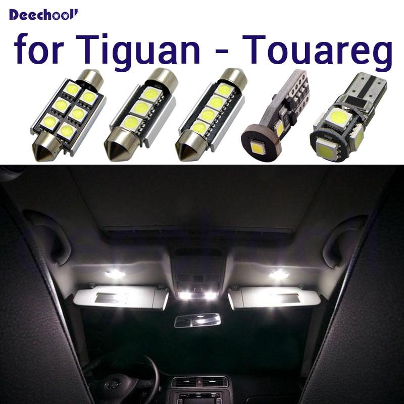 Bombilla LED blanca pura Canbus interior techo mapa dome luces kit para Volkswagen para VW Tiguan 5N para Touareg 1T1 1T2 1T3 7L 7P