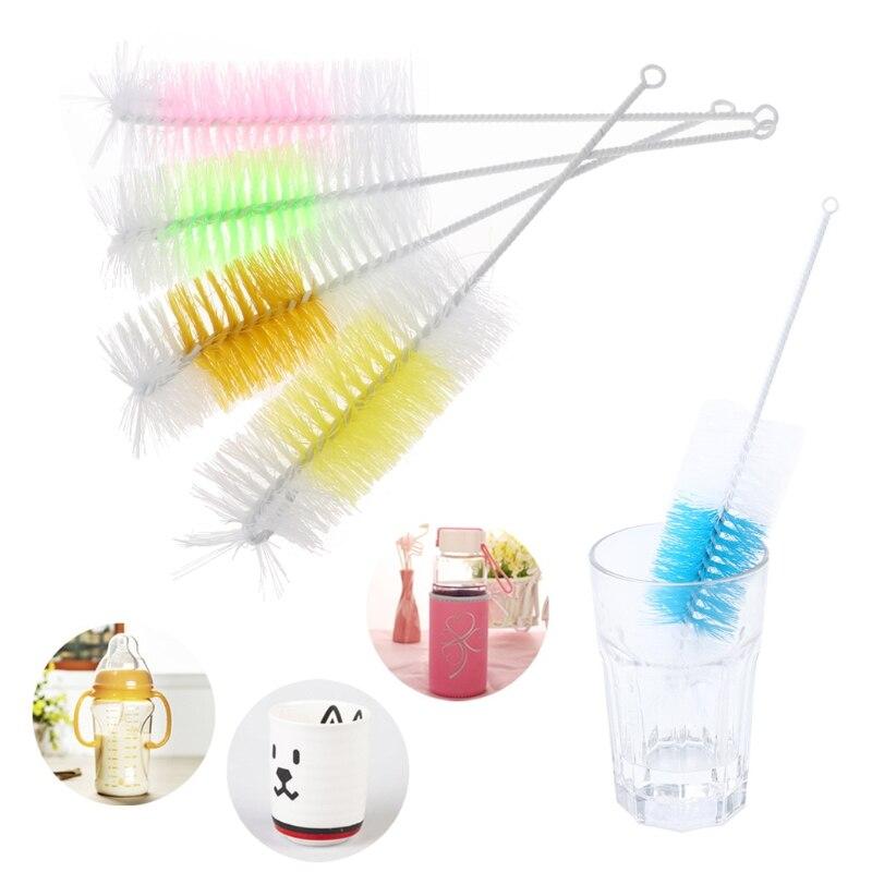 Щетка для очистки детских сосков на 360 градусов, нейлоновая бутылка для молока 30 см, кухонные щетки для очистки, много цветов