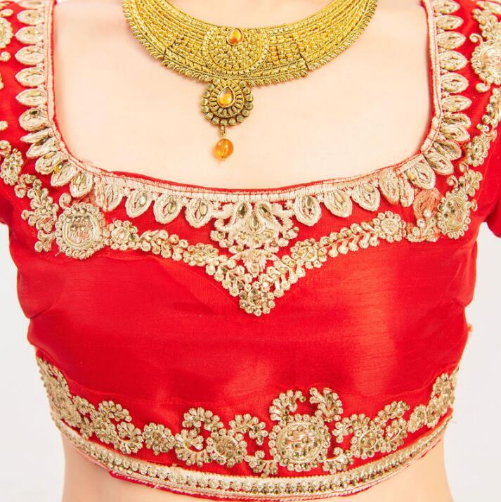New India Pakistan Gorgeous Sarees For Woman India Lehenga Choli Dance Performance Dress Woman Beautiful Embroideried Red Sets