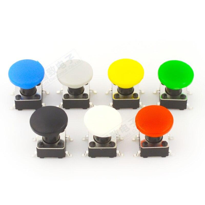 100 peças redonda a29 interruptor botão tampa diâmetro 8mm furo interno 3.4mm adequado para 6*6 interruptor de botão de toque