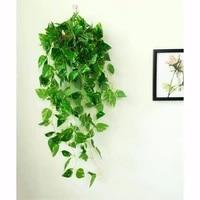 Guirlande de feuilles de lierre artificielles  12 pieces  fausses fleurs  pour un decor de maison