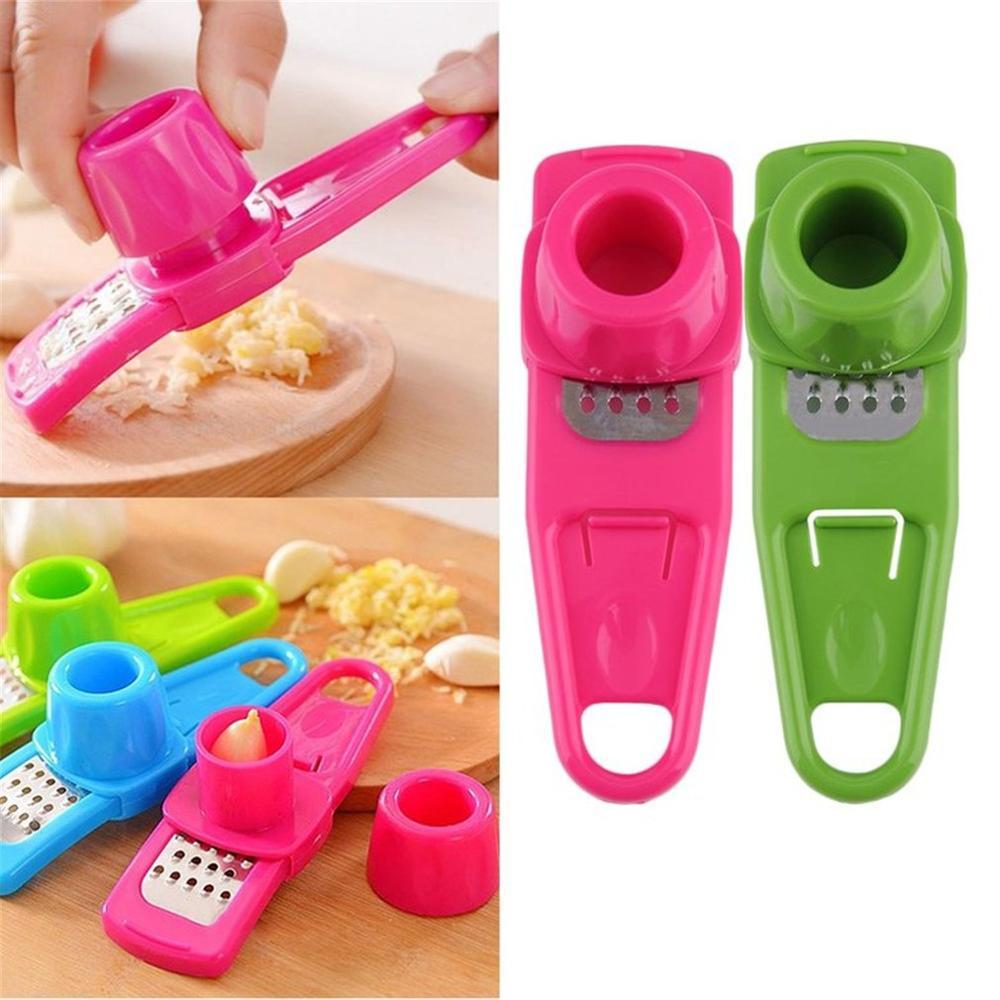 1Pc Stainless Steel Garlic Crusher Presser Ginger Cutter Multi-Function Garlic Grinding Machine Kitchen Grater Grinder Slicer