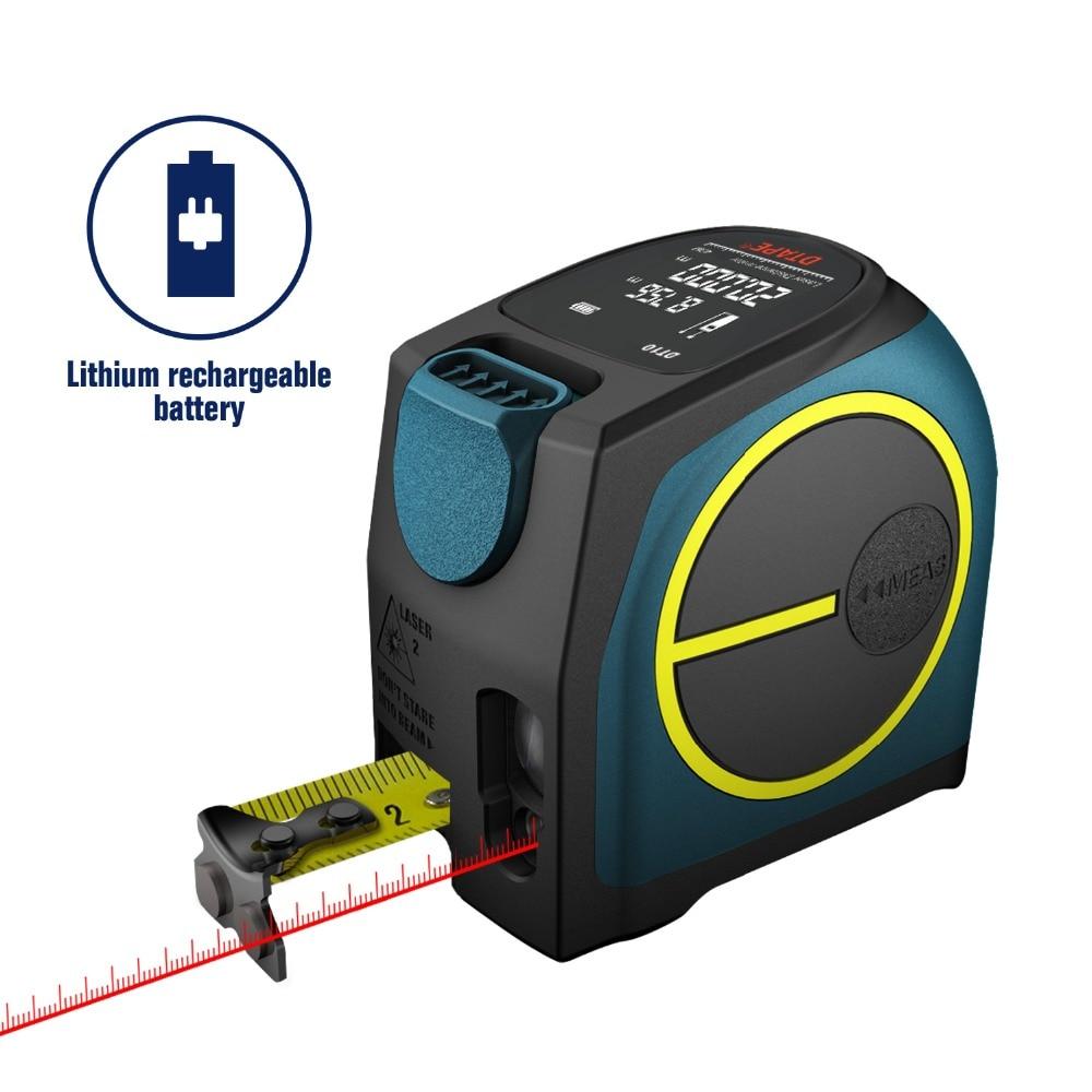 DTAPE DT10 Laser Rangefinder 5M Measuring Tool High-Precision Electronic Hand-Held Room Measuring Instrument Tape Measure 40M