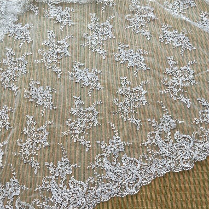 Nuevo verano coche hueso bordado encaje tela vestido de boda cortina ropa para niños Barbie DIY materiales de producción