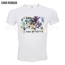 Männer Drucken Mayweather Vs Conor Mcgregor Design Mode T-shirt Kurzarm Oansatz Sommer Fitness MMA TMT Homme T Hemd