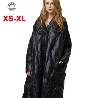 woxingwosu womens down coat european and american high end over knee down jacketsize xs to xl