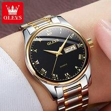 OLEVS Luxury Men Quartz Wristwatches Calendar Week Display Waterproof Men Watches Casual Dress Man W