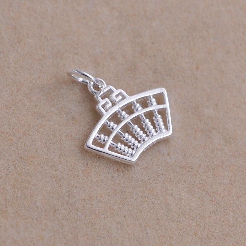 Plata Color antiguo chino calculadora encantos inteligencia símbolo cuentas Fit marca pulsera collar fabricación de joyería DIY