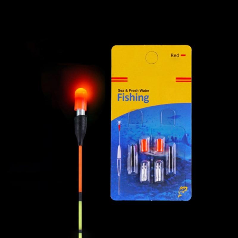 5 unids/set flotador de pesca para accesorios de aparejos electrónicos batería flotador de pesca Pin de pilas de litio eléctrico flotador LED palo de luz