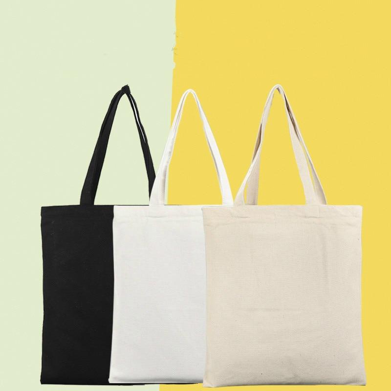 AliExpress - Large Capacity Canvas Tote Shoulder Bag Fabric Cotton Cloth Reusable Shopping Bag Eco Tote Bag Casual Beach HandBag Daily Use
