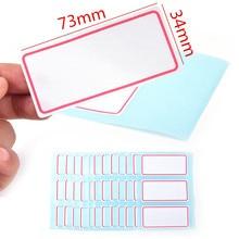 Hojas de pegatinas de 36 etiquetas, etiqueta autoadhesiva blanca, etiqueta de nombre, número, nota en blanco para estudiante