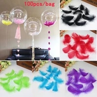 100pcs bobo balloon filled with feathers wedding petals diy dream net colorful globes goose feathers
