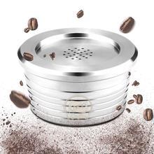 Filtro de cápsula de café Espresso reutilizable de acero inoxidable Compatible con Delta Q filtros recargables cestas Pod sabor suave dulce