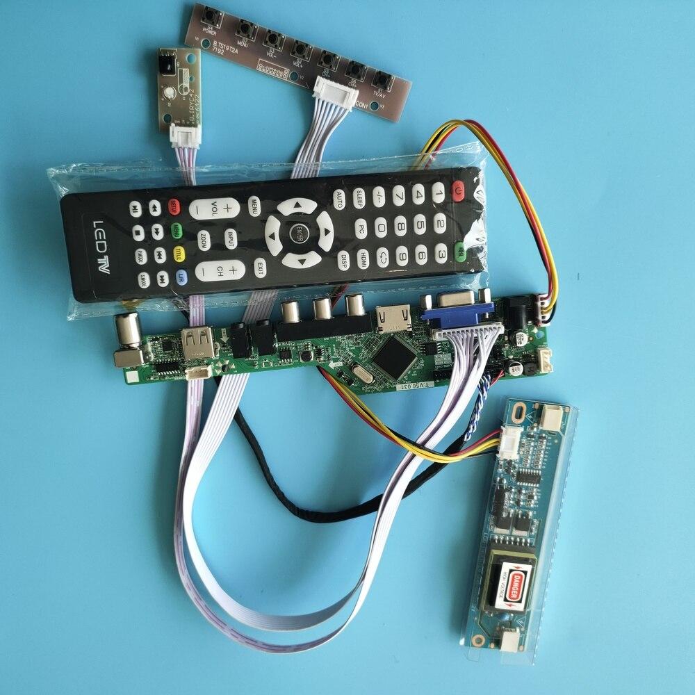 تلفزيون HDMI متوافق USB LCD LED الصوت VGA AV 2 CCFL مصابيح بطاقة تحكم مجلس سائق عرض ل LM171W02-TLB2 1440X900