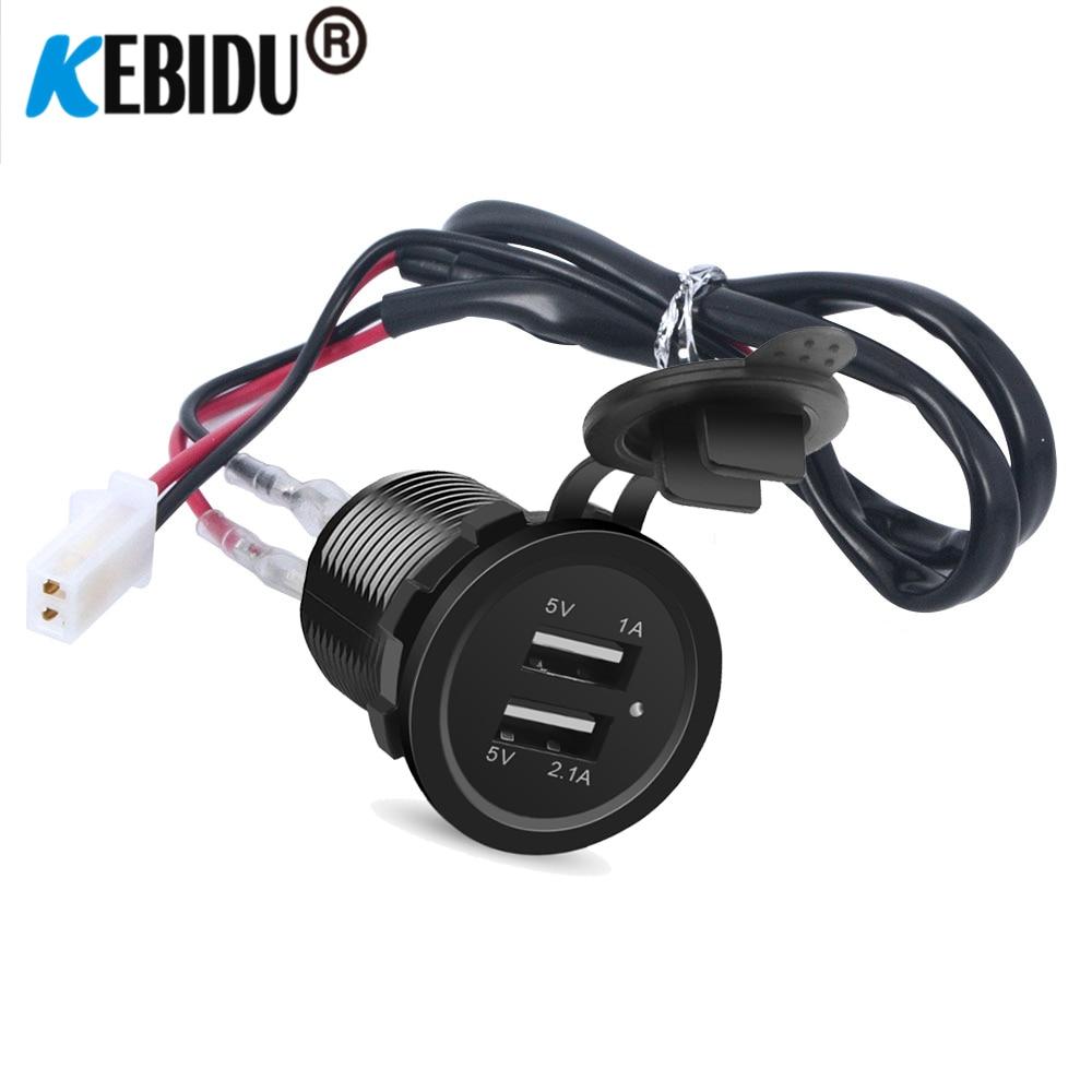 Kedbid-cargador de coche con puerto USB Dual de 12V, enchufe para encendedor...