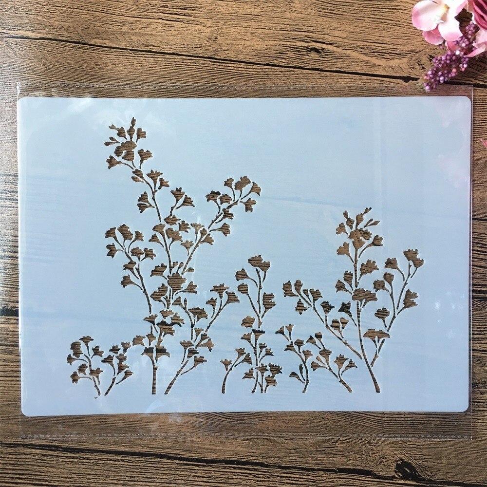 A4 29cm ginkgo deixa diy estênceis estênceis pintura de parede scrapbook colorir gravação álbum modelo decorativo