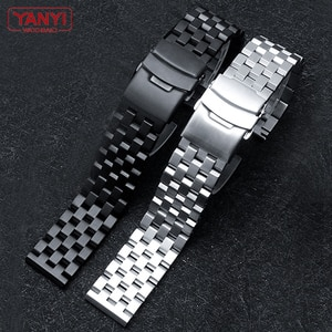 316L Stainless Steel Watchband 20mm 22mm for Samsung huawei SEI-KO watches strap solid metal watch band Double Quick release bar