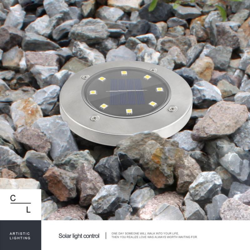 Lámpara Solar de suelo Para exteriores, Luz de jardín enterrada, impermeable, luces...