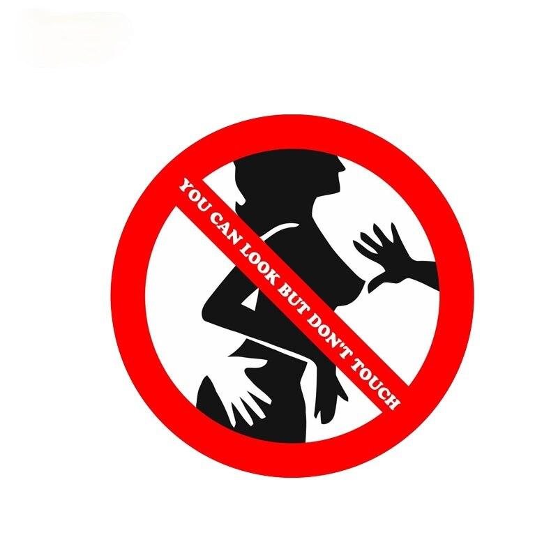 Предупреждение жестов вы можете смотреть, но «Don't TOUCH пикантные наклейки Автомобильная наклейка из ПВХ 14 см * 14 см