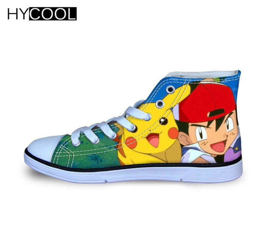 HYCOOL Pikachu Pokemon Taschen-monster Atmungs Leinwand Schuhe Sport Schuhe Für Jungen und Mädchen Skateboard Schuhe Kinder Sneaker