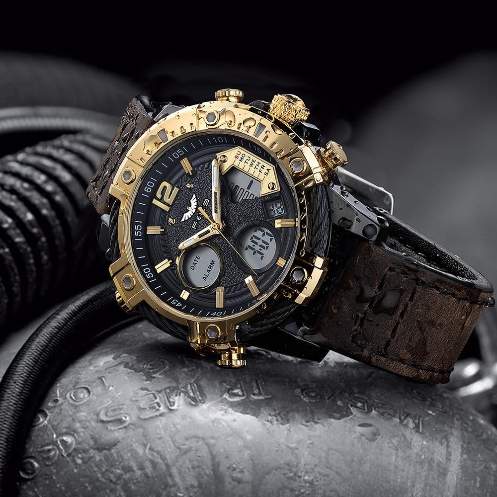 FEICE Imported Men's Quartz Watch Original Wristwatch Multifunctional Waterproof  Sport Watch Creative Fashion Watch FK038