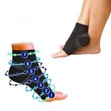 1 paire pied ange anti fatigue extérieur hommes chaussettes compression respirant pied manches soutien chaussettes hommes orthèse chaussette