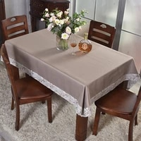 simple rectangular tablecloth oversized square fence fresh stitching lace chinese retro style table cover customizable solid