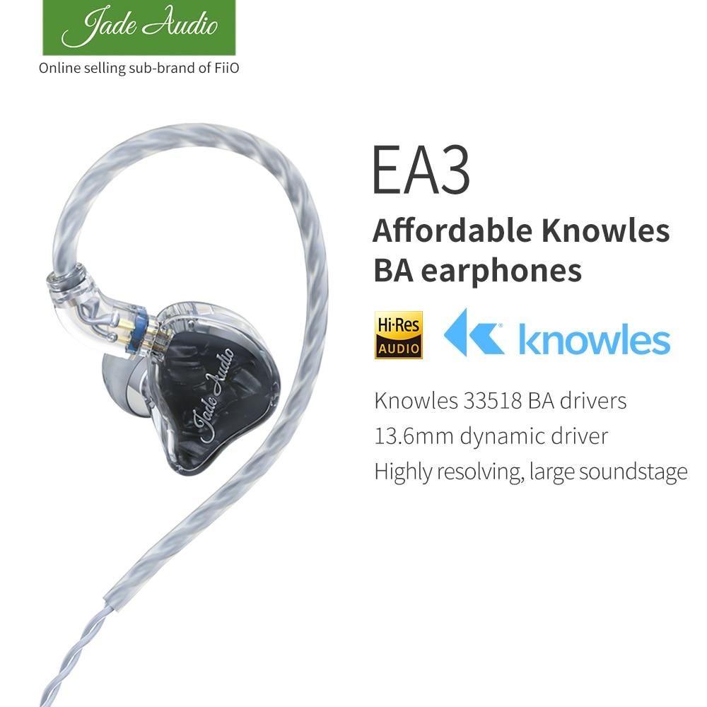 AliExpress - JadeAudio(FiiO) EA3 HiFi Stereo 1BA(Knowles)+1Dynamic Hybrid Earphone IEM with 0.78 2pins Detachable Cables with Deep bass