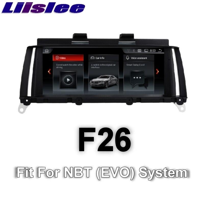 Für BMW X4 F26 2014 ~ 2017 LiisLee Auto Multimedia GPS Audio Hallo-fi Radio Stereo Original Stil Für NBT Navigation NAVI