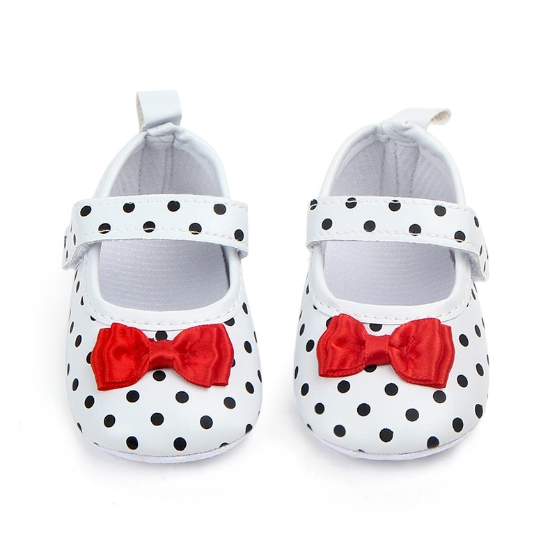 sweet pu baby girl shoes toddler infant anti slip polka dot pu first walkers shoes kids footwear shoes girls Baby Girl Shoes Toddler Infant Anti-slip Polka Dot PU First Walkers Shoes Kids Footwear Shoes Girls