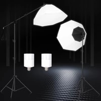 softbox octagon lighting boom arm kits soft box for photography background accessories flash system photo studio equipment