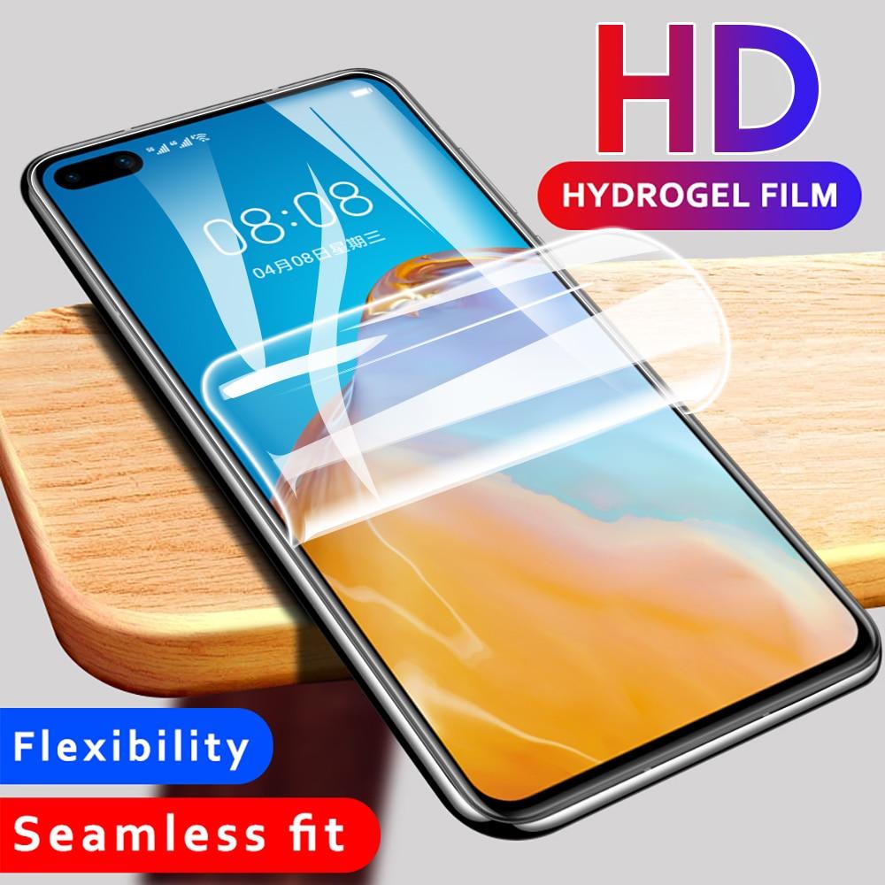 Protección 100D hidrogel de película para Huawei P10 Lite P20 P30 Pro Protector de pantalla para Huawei Mate 10 20 Pro película no de vidrio