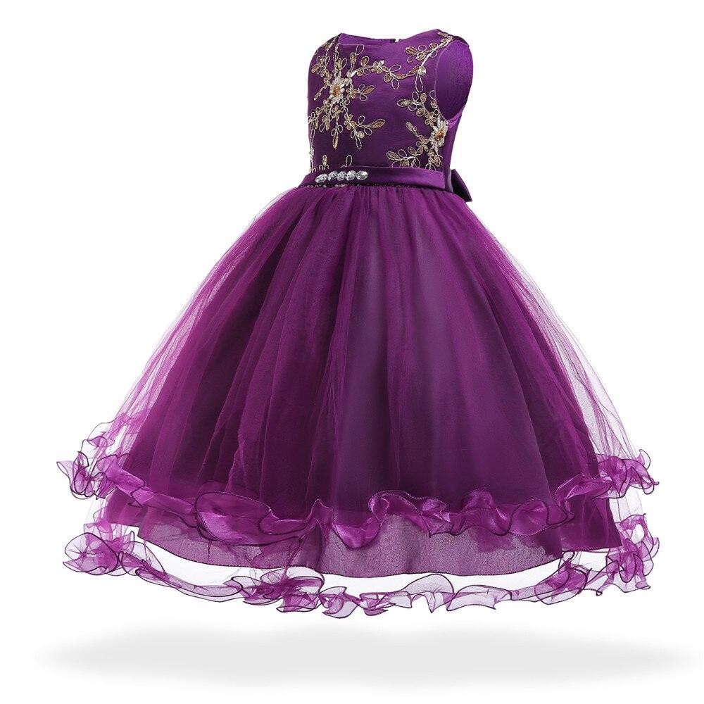 2020 new fashion children's clothing   Children's dresses Princess Lace Pompon