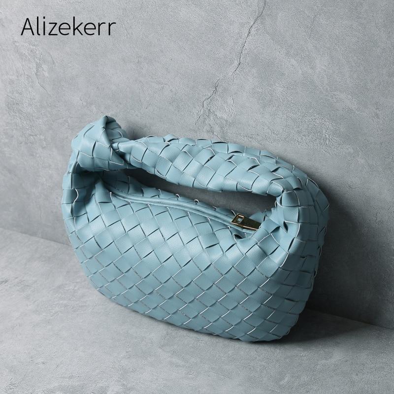 Cowhide Leather Woven Handbags Women 2020 Luxury Designer New Genuine Leather Shoulder Bag Ladies Large Capacity Purses Fashion