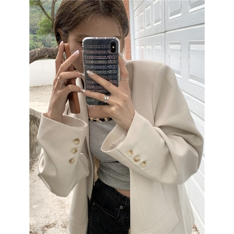 Internet Celebrity Chic Small Suit Jacket Women's Spring and Autumn Korean Style Loose Western Style