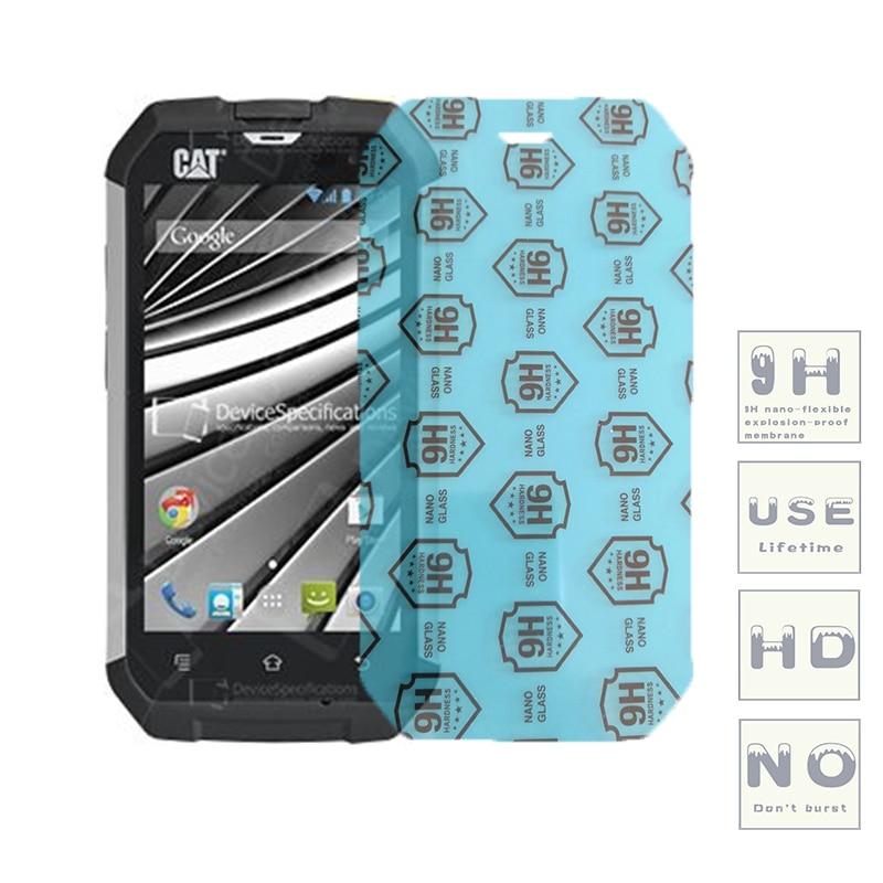 (3-Pack) 9H flexible glas screen protector Für Katze B25/B15/B100/B15Q/S50/S40/ s30/S50c/S60/S31/S41/S61/S48c